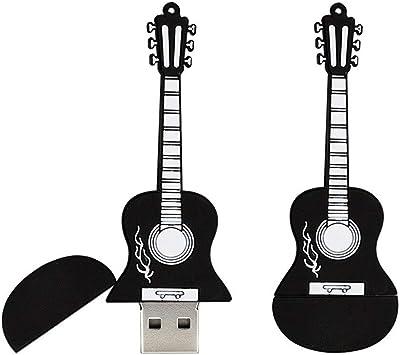 32GB Forma de Guitarra Memoria USB USB 2.0 Unidades Flash Almacenamiento Unidad de Memoria USB Memory Stick U Disco Unidad USB PenDrive con Cadena (Negro): Amazon.es: Electrónica