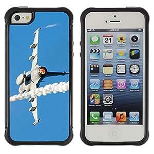 Pulsar Defender Series Tpu silicona Carcasa Funda Case para Apple iPhone 5 / iPhone 5S , JAS Gripen fighter