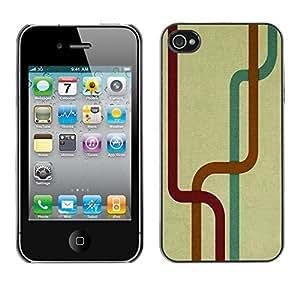 TopCaseStore / la caja del caucho duro de la cubierta de protección de la piel - Abstract Lines - Apple iPhone 4 / 4S