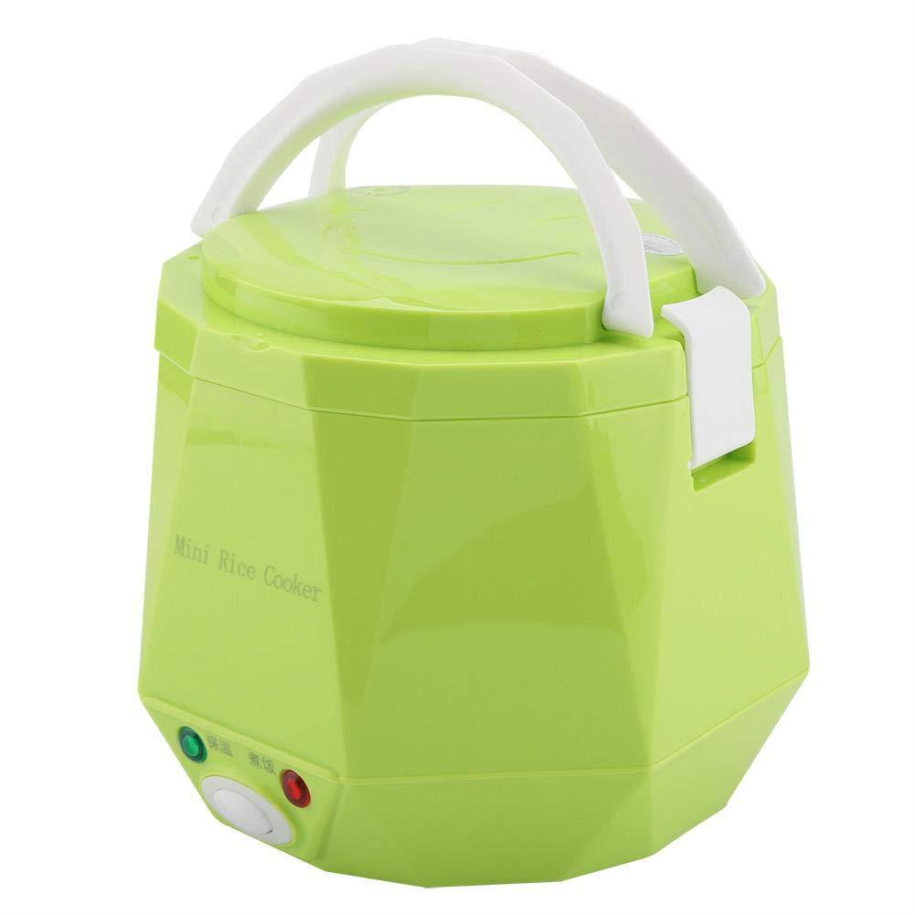 Green 1.3L 24v 180w Fiambrera el/éctrica de Cami/ón Olla arrocera el/éctrica Doble hebilla de seguridad Calentadora Almuerzo El/éctrica