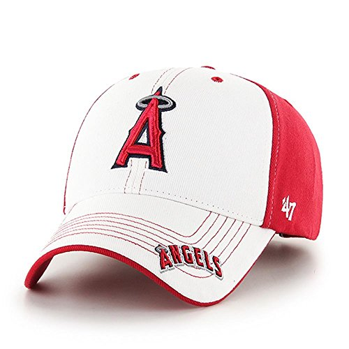 fan products of MLB Los Angeles Angels Kids Revolution MVP Adjustable Hat, Red