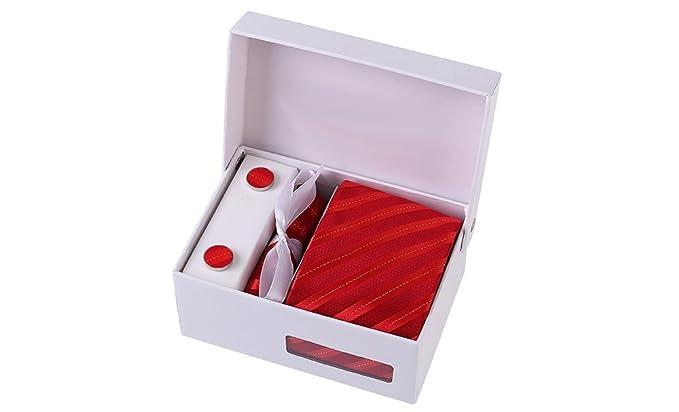 nombreux dans la variété meilleure sélection la plus récente technologie Coffret Pékin - Cravate rouge à rayures rouge clair avec fil ...