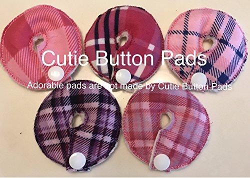 (Cutie Button Pads G/j Tube Pad 5 Pack (plaids) (Plaid girls))