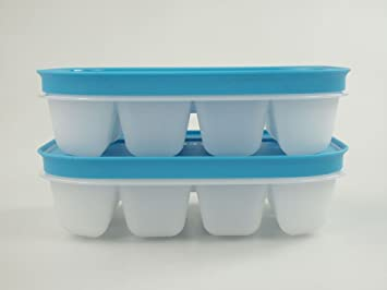 TUPPERWARE Mini Bandeja de Hielo Flexi blanco azul (2)