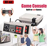 isopeen Handheld Retro Game Console Built-in 620 Classic Games Video Games 2 Gamepad for Dual Players HD AV Output (4 Buttons)