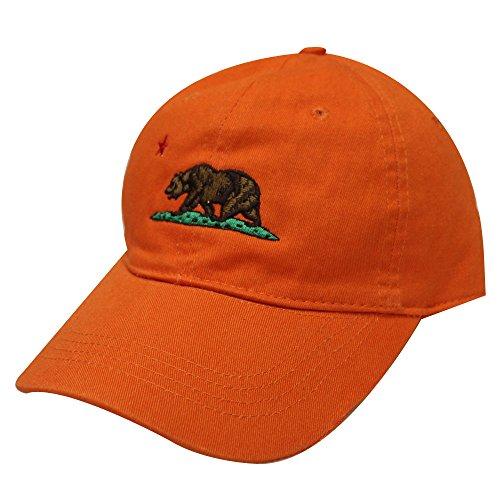 City Hunter C104 California Republic Bear Cotton Baseball Cap 15 Colors - City Orange California