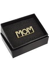 Mother's Day Mom Rhinestone Crystal Word Brooch Pin
