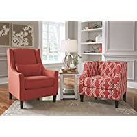 Ashley Sansimeon Accent Chair in Coral