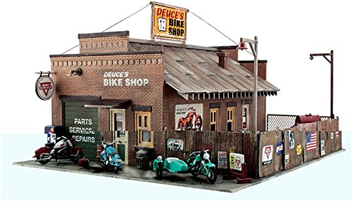 Big Bike The Shop (WOODLAND SCENICS PF5193 Deuce's Bike Shop HO)