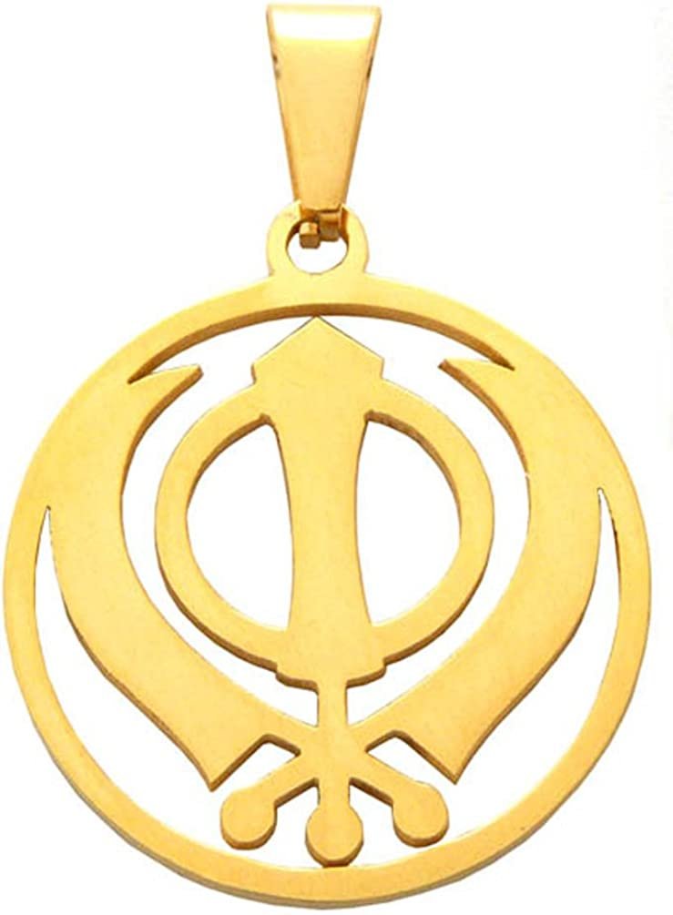 New Unisex Silver Small Khanda Pendant Sikh Symbol Necklace Emblem of Sikhism