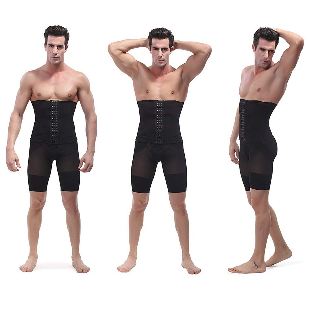 LONGBIDA Waist Shaping Band Trainer Men Waist Trimmer Belt Waist Trainer Body Shaper Body Suit Men