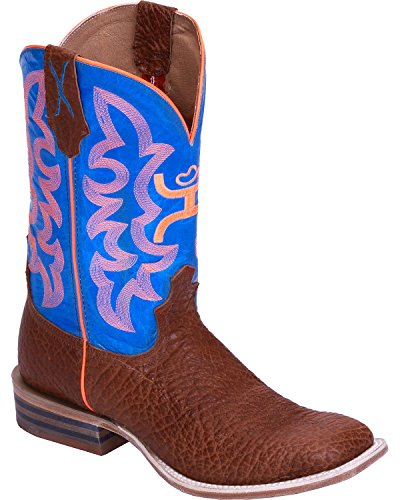 Cognac Neon Blue Wide Twisted X Square Boot Hooey Toe Men's Cowboy By XqqfPwxO