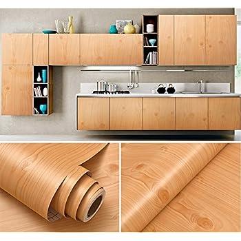 Amazon Com Glow4u Faux Wood Grain Contact Paper Vinyl