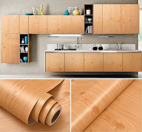 Faux Wood Grain Contact Paper Vinyl Self Adhesive Shelf Drawer Liner for  Kitchen Cabinets Shelves Table Desk Dresser Furniture Arts and Crafts Decal  ...