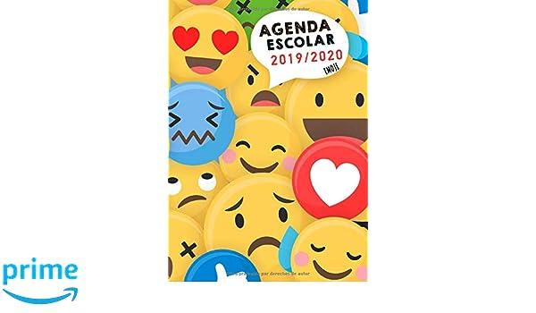 Agenda escolar 2019/2020: Agenda escolar diaria de septiembre de 2019 a agosto de 2020 - Emoji - Tamaño A5 - Agenda escolar 2019 2020 en español