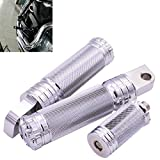 KaTur Motorcycle CNC Aluminum Silver Footrest Foot Pegs+Shifter Peg+Handlebar Grips for Harley Sportster XL 1200 883 Custom