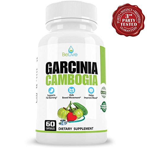 100% Pure Garcinia Cambogia | Most Natural Weight Loss Pills for Women and Men | Carb & Fat Blocker, Appetite Suppressant, Metabolism Booster. 60 Capsules