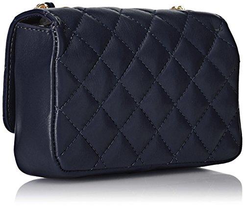 19x13x6cm matelassé in main 100 classique à véritable Pochette Sac Blu Bleu italien femmes Made Italy cuir CTM FqxgS8O