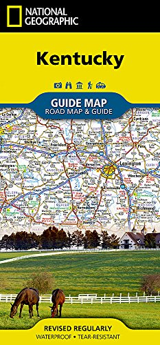 Kentucky (National Geographic Guide Map)