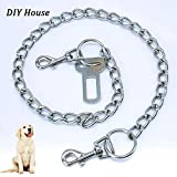 DIY House Metal Chain Dog Seat Belt for Car Safety for Dogs Cat Car Seat belts Safety Leash Leads Harness Universal for Cat Dog Seatbelts Cars 75cm