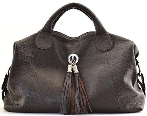 Marron MY Main OH Modèle Fonce porté femme Sac à bandoulière CUIR grainé et BAG main Sac à Chambord main 1wwxUdCITq