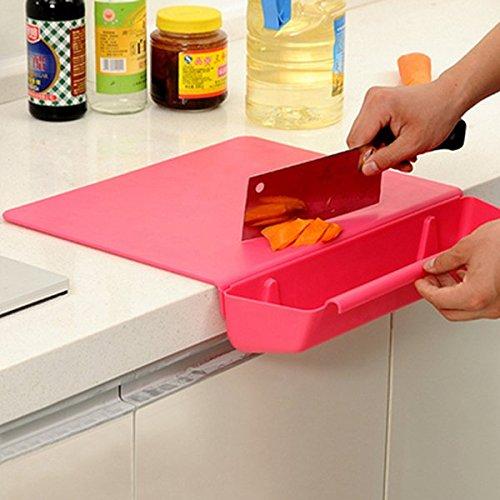 Bluelover 2 in 1 verdickte Antibacteria Schneidebrett Sammeln Foren Küche Werkzeug