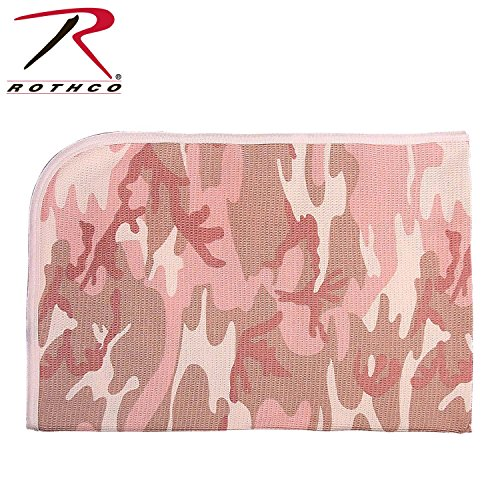 Rothco Infant Receiving Blanket, Baby Pink (Go Commando Camo)