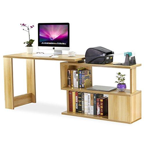 Tribesigns Modern L Shaped Desk Rotating Computer Desk Pc