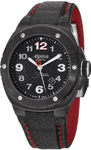 Alpina Racing 12 Hours of Serbing Black Dial Leather Mens Watch AL525LBR5FBAR6