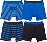Trimfit Boys Cotton/Spandex Boxer Briefs (Pack of 4)