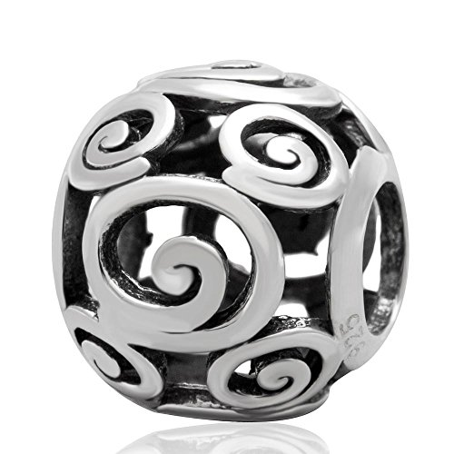 Dragon Circle Beads Charm 925 Sterling Silver Beads for Pandora Charms Bracelet & Necklace