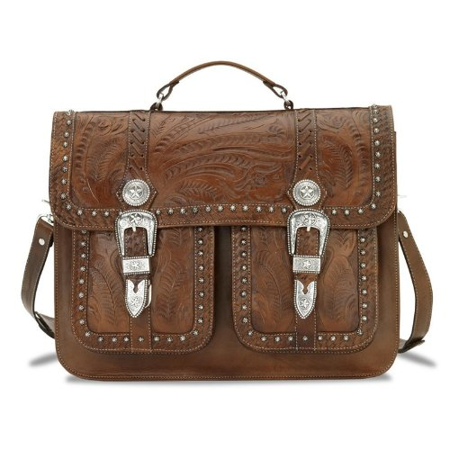 American West Two Compartment Briefcase