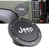 Automotive : SUNPIE Fuel Filler Door Cover Gas Tank Cap for 2007-2017 Jeep Wrangler JK & Unlimited 4-Door 2-Door (Black)