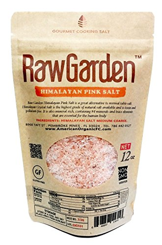 Raw Garden 4 Pack (12 oz Each) Coarse,Hawaiian Black Lava, Red Alea, Green Bamboo, Himalayan Pink Coarse Salt Gourmet Variety Total 3 lbs by Raw Garden (Image #1)
