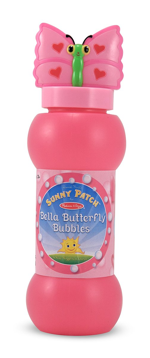 Melissa Doug Sunny Patch Bella Butterfly Bubble Blowing Set
