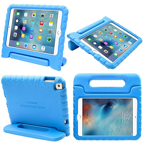 I Blason IBL-MN4-KIDO-BLUE Apple iPad Mini 4 Case for Kids [ArmorBox KIDO Series] Light Weight Super Protection Convertible Stand Cover 2015 Release