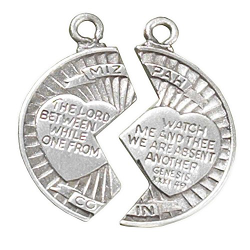 Mizpah Two-Piece Coin In Satin Finish Pewter 18-Inch And 24-Inch Pendant Necklace