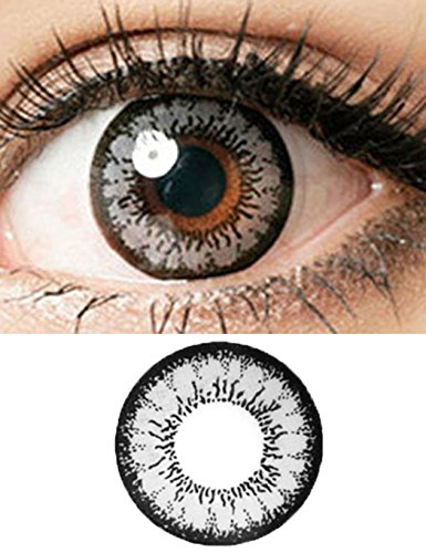 Rtiopo Cosplay Large Diameter Colored Contacts Lens Eye Makeup Unisex 6 Colors for Both Men & Women (Gray)