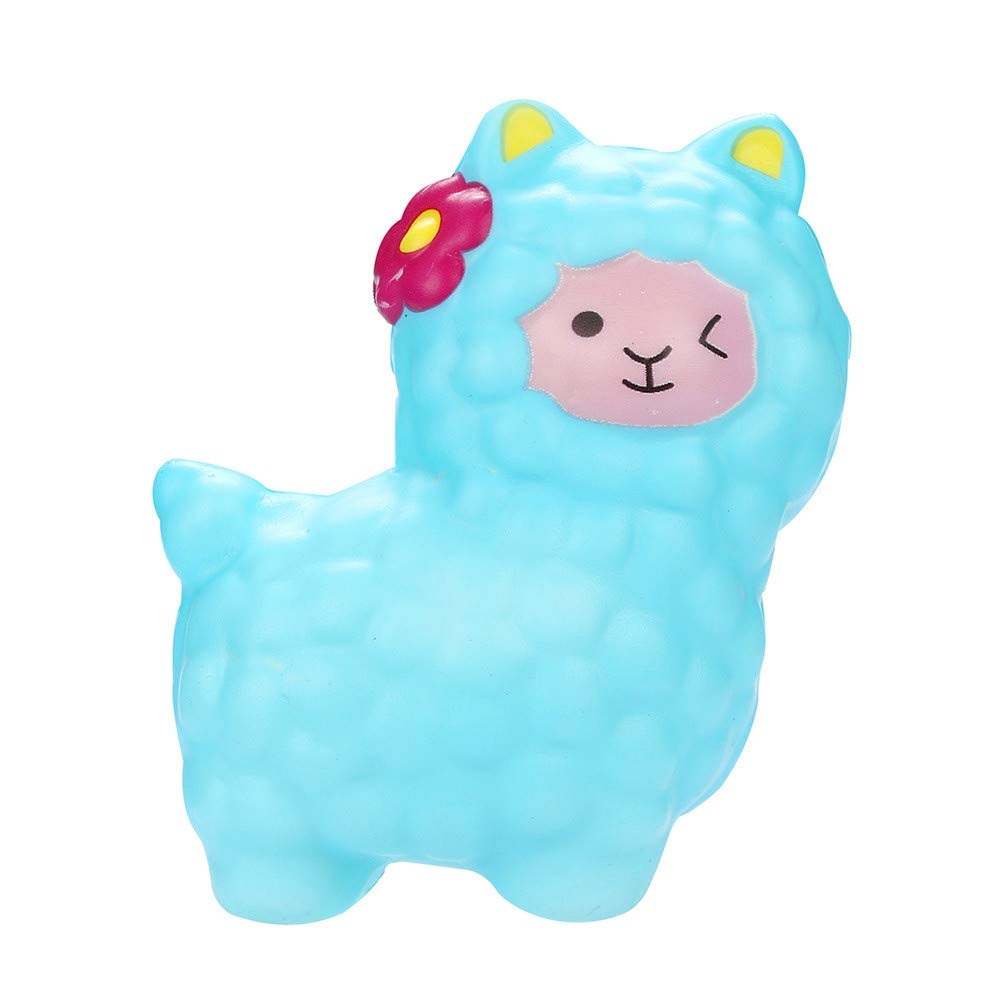 Homeparty Squishies Adorable Llamas Slow Rising Fruits Scented Squeeze Stress Relief Toys