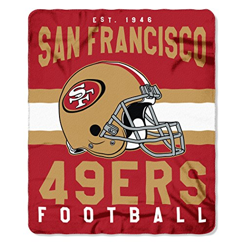 The Northwest Company NFL San Francisco 49ers Singular Fleece Throw, 50-inch by 60-inch, Red