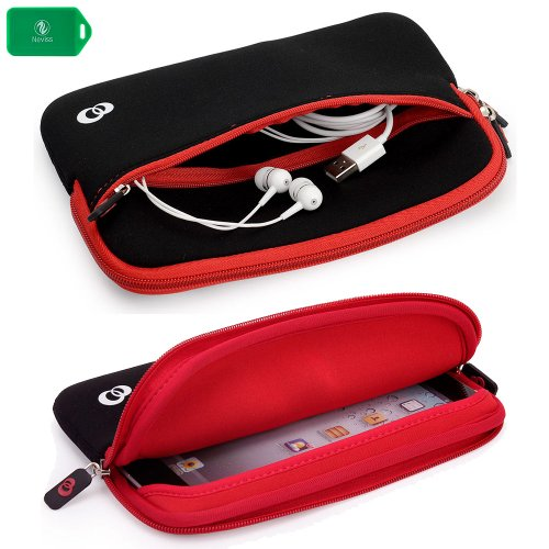 slim-neoprene-sleeve-with-front-pocket-for-accessories-in-black-red-for-amazon-kindle-fire-hd-7