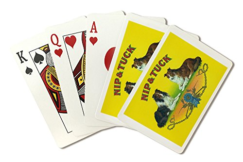 Nip and Tuck Brand Cigar Box Label - Rough Collies (Playing Card Deck - 52 Card Poker Size with Jokers)