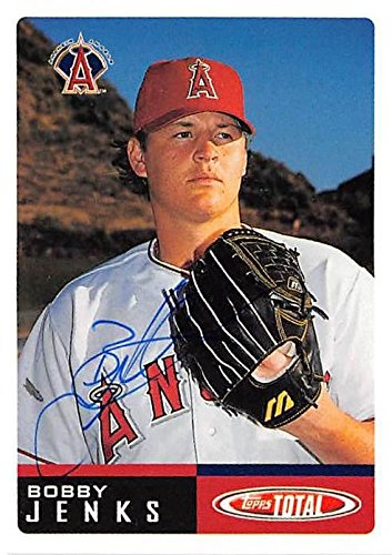 Bobby Jenks autographed baseball card (Anaheim Angels) 2002 Topps Total #117 - Baseball Slabbed Autographed Cards