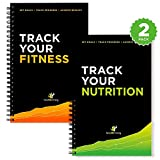 Workout Log Book and Nutrition Log Book 25-Week Designed by Experts w Illustrations  Track Gym Workouts Track Food Intake and Nutrition Sturdy Binding Thick Pages   Laminated 1 of Each