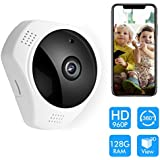 360 Panoramic Degree Night Vision Wireless Security IP camera,AONOKOY wifi Fish Eye Lens 960P 3D Indoor/Outdoor Security system for baby pet elder Support Android IOS Windows Mac