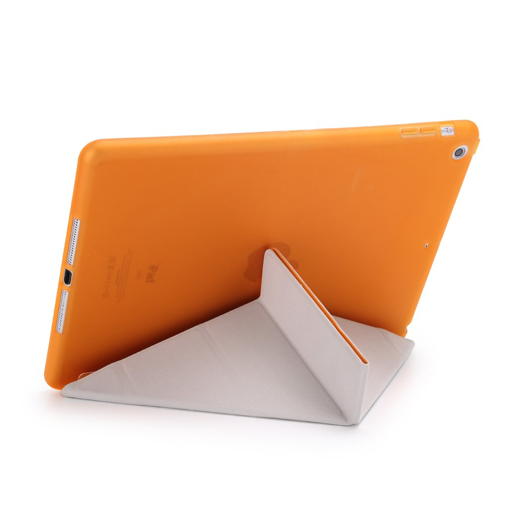 Multi-Fold Stand Holder Flip Origami iPad Tablet Protector Cover Leather Carrying Case with Smart Auto Sleep//Wake for Apple iPad 2//3//4,Rose Gold DIGIC iPad 2//3//4 Folio Case