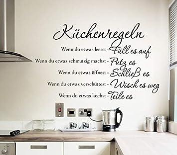 Wandtattoo Wandaufkleber Wandsticker Sprüche Küche ...