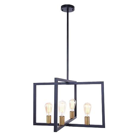 Amazon.com: Lingkai - Lámpara de techo de 4 luces, diseño de ...