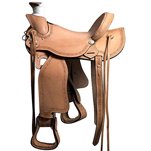 HILASON BH71F WESTERN LEATHER RANCH ROPING COWBOY LADIES LIGHT WEIGHT SADDLE 16' (Saddle Roping Western)