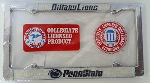 New - Penn State Nittany Lions Metal License Plate Frame - Auto Car Truck Chrome Noles FSU